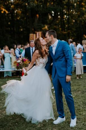 Location: Budakeszi, Hungary Date: August 22, 2020 Venue: Wedding Wood  Photographer: Daniel Cinematographer: Gergely